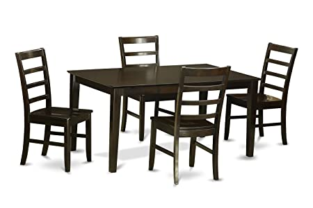 East West Furniture CAPF5-CAP-W 5-Piece Dining Room Table Set