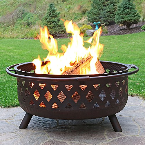 Sunnydaze-36-Inch-Large-Bronze-Crossweave-Fire-Pit-with-Spark-Screen