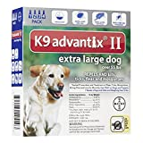 Bayer K9 Advantix II Flea and Tick Control Treatment for X-Large Dogs (over 55 lb), 4 Month Supply