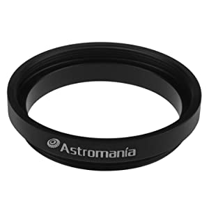 Astromania M43x0.75 Female to M42X0.75 T / T2 Male Thread Telescope Adapter - The Camera Adapter for Astromania 1.25/2-70 Degree Super Wide Angle (SWA) Eyepiece (Tamaño: M43x0.75 Female to M42X0.75 T / T2 Male)
