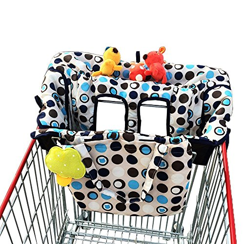 Big Save! Crocnfrog 2-in-1 Shopping Cart & High Chair Cover for Baby- Machine Washable, Free eBook