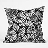 DENY Designs Julia Da Rocha Bouquet Of Flowers Love Throw Pillow, 6 by 6-Inch