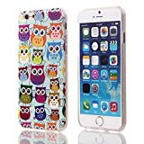 Luv You iPhone 6 6G 6TH Case 4.7 Screen Version,Color Owls Design A Series Of Premium TPU Gel Scratch Resistant Pattern Rubber Soft Silicone Case Cover Protective Fit For AT&T/Verizon/Sprint/T-Mobile/International/Unlocked 2014 NEWEST Apple iphone 6 4.7 INCH(Made of High Quality TPU Material)