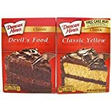 Duncan Hines Cake Mix--Devil's Food and Classic Yellow (2 pack)