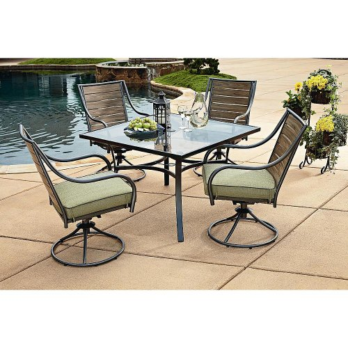 Brooks 5-Piece Dining Set. This High Quality Outdoor Furniture Set is a Beautiful Accent to Any Backyard Patio Guaranteed.