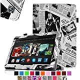 """Fintie Kindle Fire HDX 8.9 Folio Case Slim Fit Leather Cover (will fit Amazon Kindle Fire HDX 8.9"""" Tablet 2014 4th Generation and 2013 3rd Generation) - Newspaper"""
