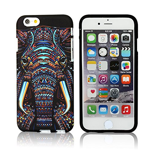 iPhone 6/6s Case,CLOUDS [Night Luminous Glow] Luxury Fashion Cool Cute Elephant HD Vintage Tribe Stripe Animal Pattern Design Premium TPU Rubber Silicone Gel Slim Flexible Durable Soft Protective Case Cover for Apple iPhone 6/6s 4.7inch-Retail Packging-Colorful Elephant (Cool Iphone 6 Cases For compare prices)