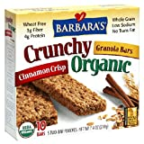 Barbara's Bakery Crunchy Organic Granola Bars Cinnamon Crisp, 7.4-Ounce Boxes (Pack of 6) ~ Barbara's Bakery