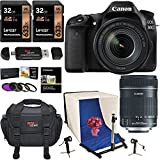 Canon EOS 80D Digital SLR Camera EF-S 18-135mm Image Stabilization USM Lens - Polaroid Photo Studio Light Tent Kit - 2X 32GB Lexar Memory Cards - Ritz Gear Camera Bag and Accessory Bundle