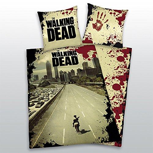 The Walking Dead, multicolore, reversibili, biancheria da letto, federa 80 x 80 cm e Copripiumino 135 x 200 cm, 100% poliestere, in microfibra