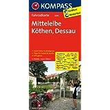 Mittelelbe - Köthen - Dessau: Fahrradkarte. GPS-genau. 1:70000 (KOMPASS-Fahrradkarten Deutschland)