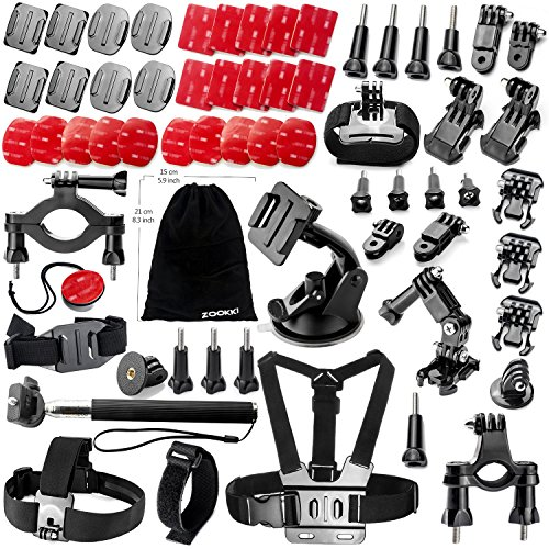 Zookki 46-in-1 Camera Accessories Kit for GoPro Hero 4 3+ 3