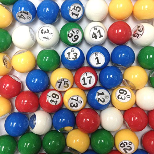Find Discount Multi Color Plastic Bingo Ball Set