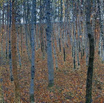 Quadro + telaio foresta di faggi di gustav klimt 100x99x4 cm falso d ...