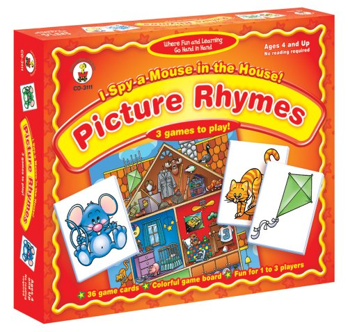 I Spy a Mouse in the House! Picture Rhymes Board Game: 3 Games to Play! - 1