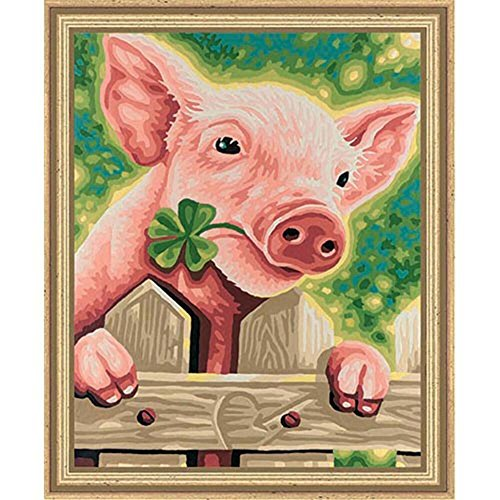 Schipper 9240418 - Painting by Number Lucky Pig, 24x30cm