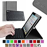 Fintie Blade X1 Keyboard Case for iPad 4th Generation with Retina Display, iPad 3 & iPad 2 Ultra Slim SmartShell Stand Cover with Magnetically Detachable Wireless Bluetooth Keyboard - Houndstooth