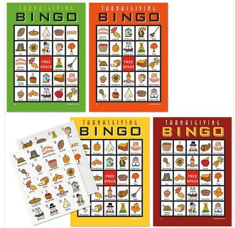 Best Review Of Thanksgiving Bingo Game, 20 Cards