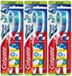 Colgate - Brosse � Dents Triple Action - Medium - couleur al�atoire - Lot de 3
