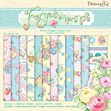 Helz Cuppleditch 8 x 8-inch Forget Me Not Paper Pack