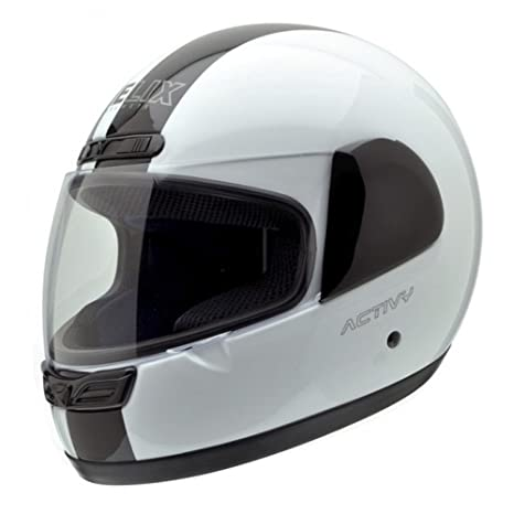 NZI 150244G324 Activy Classic White/Black, Casque de Moto, Taille M Multicolore