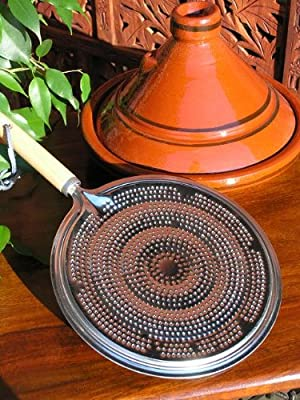 Heat diffuser with wooden handle from Maroque