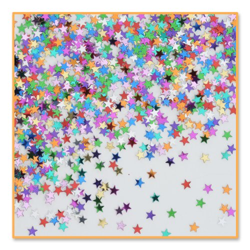 Beistle CN055 Party Stars Confetti, 1/2-Ounce