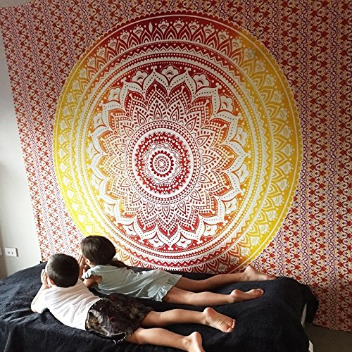 Marubhumi-TM-BIG-Mandala-Hippie-Tapestry-Hippie-Wall-Hanging-Tapestries-Bohemian-Tapestries-Queen-Mandala-Home-Decor-Multi-Color