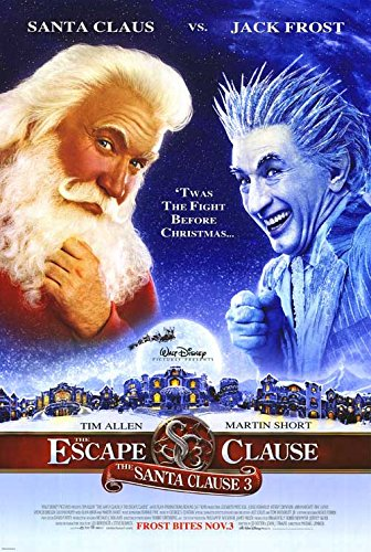 "Santa Clause 3: The Escape Clause - Authentic Original 27"" x 40"" Movie Poster -shop for Blu-ray, DVD, and Movie-themed products"