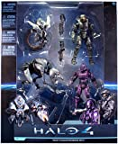 Halo 4 Collector 4 Figure 'Boxed' Set 2 Master Chief / Spartan Soldier / Watcher / Crawler Figures