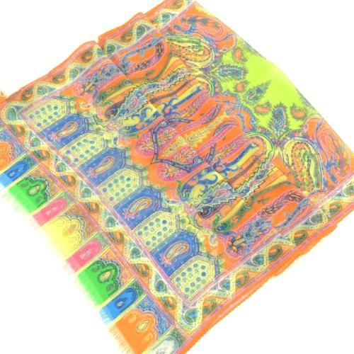 (エトロ) ETRO ロングスカーフ 10660 5406 750 42x130 オレンジ 並行輸入品