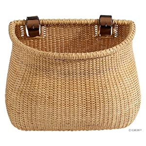 Nantucket Lightship Collection Classic/Tapered Natural Bicycle Basket (Tan, 12 X 7.5 X 9)