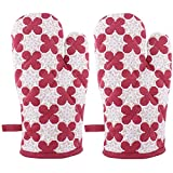 Suam Cotton Maroon Printed Gloves Pack Of 2