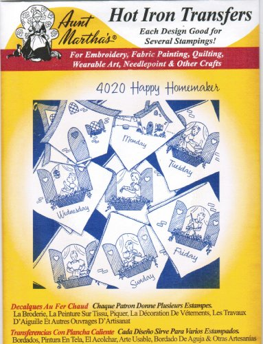 Happy Homemaker Aunt Martha'S Hot Iron Embroidery front-87392