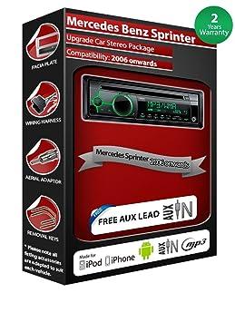 Mercedes Sprinter, Autoradio Clarion CZ102EG de lecteur CD et stéréo de voiture radio AUX avant