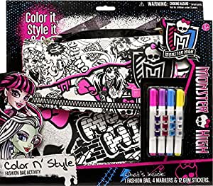 Tara Toys Tara Toy Monster High Color N Style Fashion Tote Activity