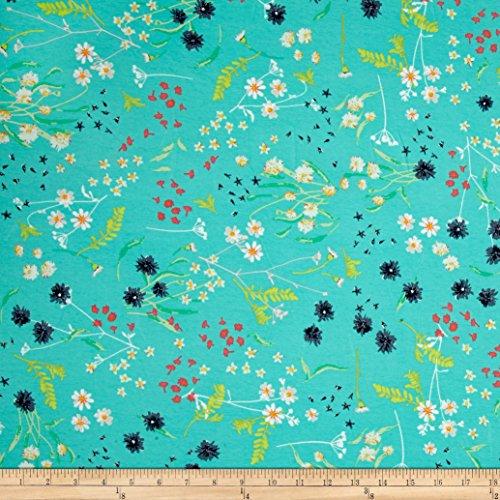 Art Gallery Jersey Knit Lavish Blossom Swale Calm Fabric