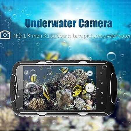 GoldFox X1 Smartphone IP68 Tri-Etanche à la poussière Résistant aux chocs Android 4.4 MTK6582 1.3GHz Quad Core 1G de RAM 8G Go ROM 5' 1280x720 (HD 720)pixels IPS écran tactile capacitif WCDMA 13MP + 5MP Dual Cameras