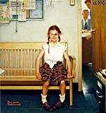 Norman Rockwell Girl With Black Eye 1953 Art Print - 8 in x 9 in - Unmatted, Unframed