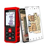 LiangFangShenQi Laser Measure, 230ft/70m, Bluetooth Laser Distance Meter, Backlit Display, Red, KC-B70 Laser Measuring Device with Floor Plan APP for Android & iOS (Ultimate) (Color: Red)