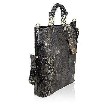 e04edd62dece2 ... Black Python Leder Large Tote Convertible Tasche. Sie können anzeigen  Details