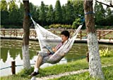 Outdoor Leisure Nylon Mesh Hammock-White
