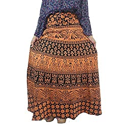 Shopmore Women Free Size Brown Wraparound Skirt