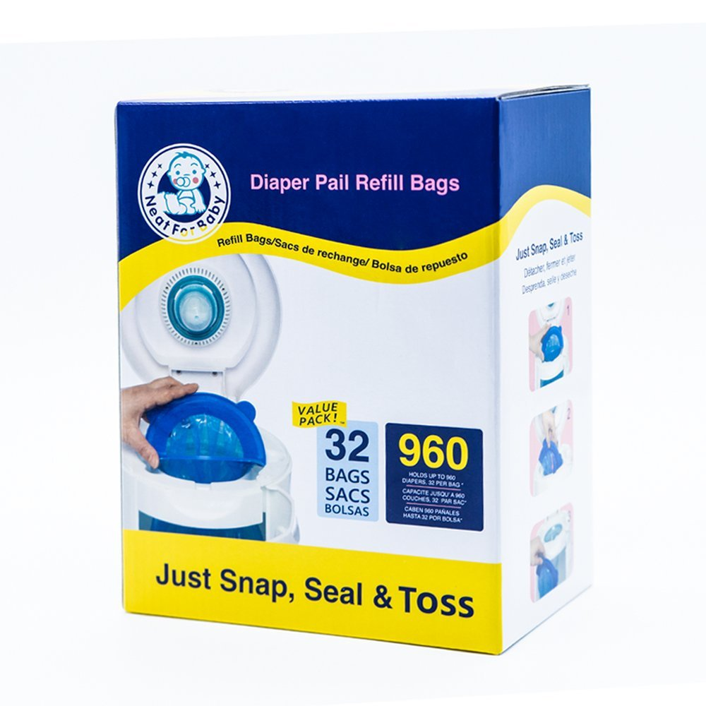 Neatforbaby Diaper Refill 32 Bags (960 Counts) Fully Compatible with Arm&Hammer Disposal System