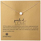 Dogeared Pearls of Love 8mm Freshwater Pearl Necklace, 18""