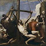 Perfect Effect Canvas ,the Amazing Art Decorative Canvas Prints Of Oil Painting 'Ribera Jose De The Martyrdom Of Saint Philip 1639 ', 18 X 18 Inch / 46 X 46 Cm Is Best For Wall Art Decoration And Home Gallery Art And Gifts