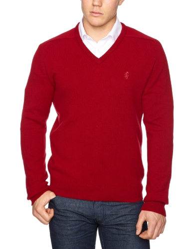 Pringle Classic V-Neck Men's Jumper Raddish Large