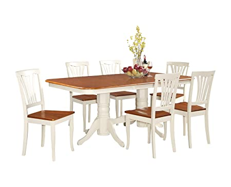 East West Furniture NAAV5-WHI-W 5-Piece Dining Table Set