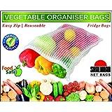 Shalimar Premium Vegetable Organiser Bags ( Reusable Fridge Bags / Net Bags ) 2 Bags each of size in cms ( 20.5 x 25.5 / 23.0 x 30.5 / 25.5 x 35.5 ) ( Pack of 6 Bags )
