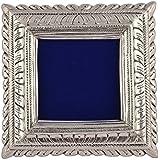 KJ Handicraft Wooden Photo Frame (20 Cm X 3 Cm X 20 Cm, Silver, KJ039)